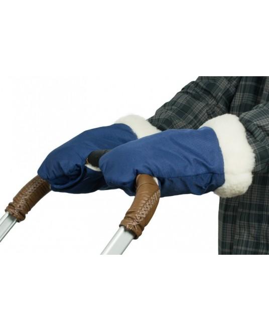 """Муфты-рукавички меховые """"Прайм"""" синие"""