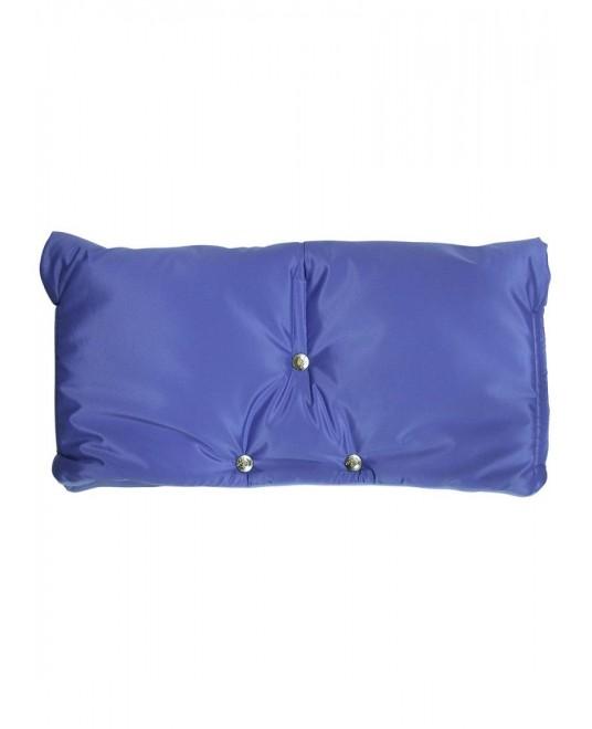 Муфта флисовая (липучка) - голубая