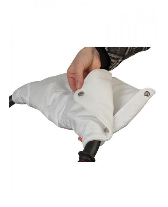 Муфта флисовая (кнопки) - белая