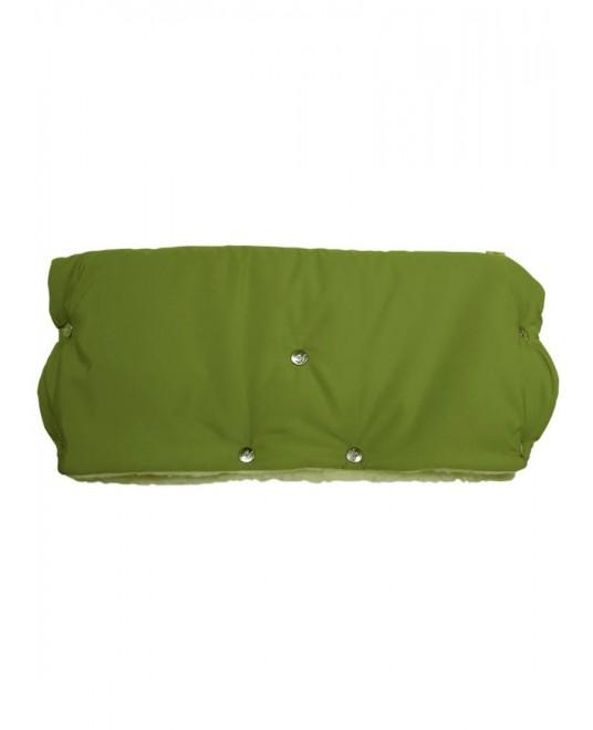 Муфта меховая - зеленая