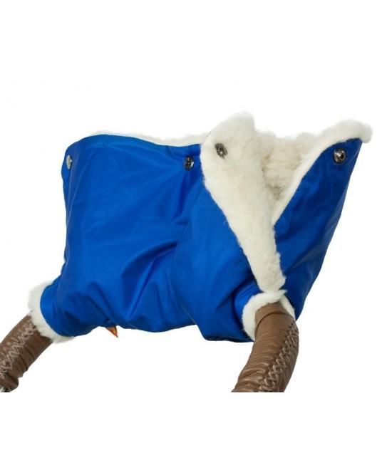 Муфта меховая - синяя
