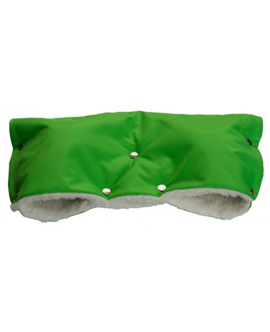 Муфта меховая - ярко-зеленая