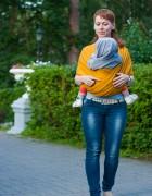 Слинг-шарф с вискозой «Нибус» горчичный
