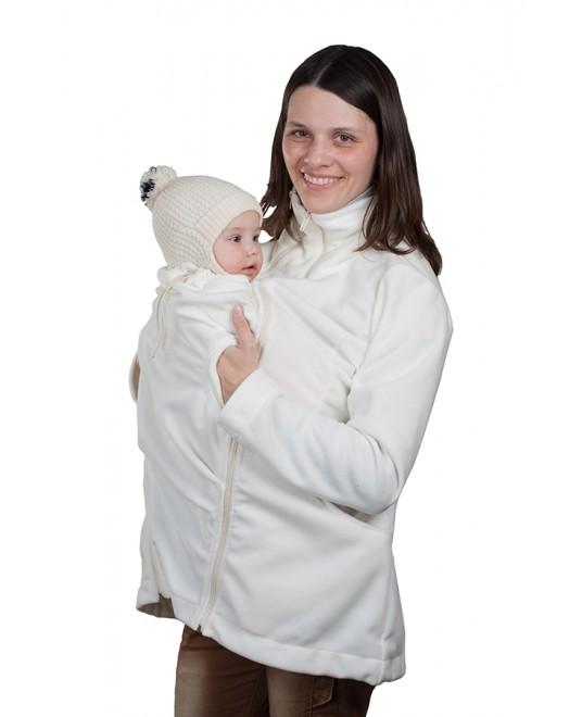 Слингокуртка Чудо-Чадо  флисовая «Мама Плюс» - молочный
