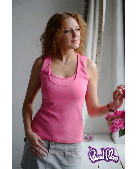 Майка для кормящих «Легкость бытия» - розовая