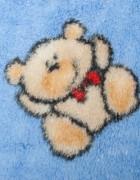 Детский плед мишки/голубой