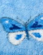 Детский плед бабочки/голубой