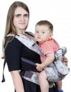 Слинг-рюкзак «Ренессанс» серебряный