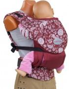 Слинг-рюкзак «Стиль» вишнёвый пейсли