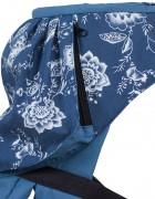 Слинг-рюкзак «Стиль» синие цветы