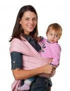 Слинг-шарф «Уют» серо-розовый