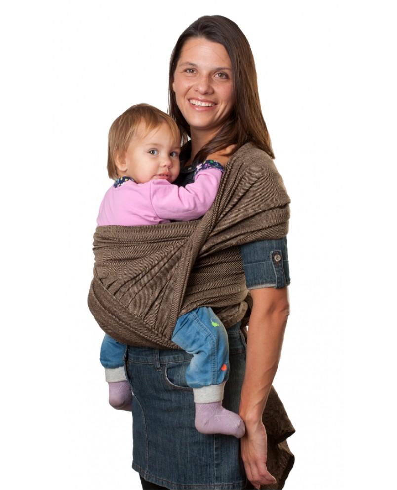 Слинг-шарф «Уют» коричневый меланж