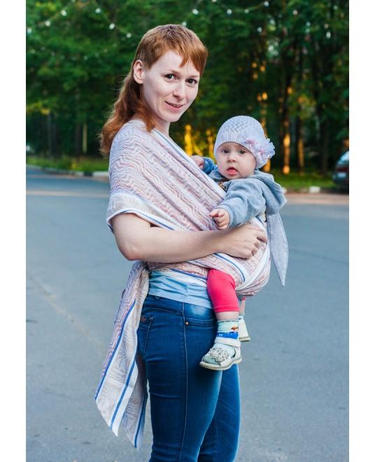 Слинг-шарф «Парусники» белая ночь