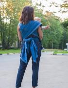 Слинг-шарф «Сити-джинс» деним/красный