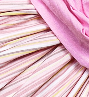 Слинг с кольцами «Солнышко» розовая полоска