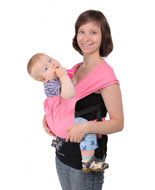 Эргономичный слинг-рюкзак Чудо-Чадо «Тайт» - розовый