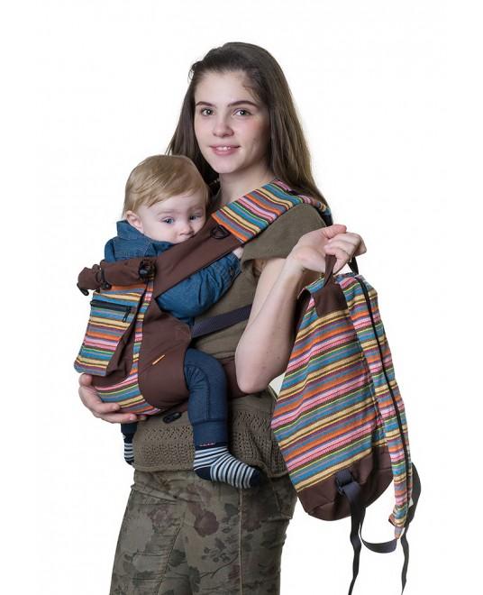 Слинг-рюкзак «Уичоли» шоколадный