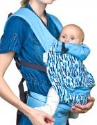 Слинг-рюкзак «Льняной» лазурь