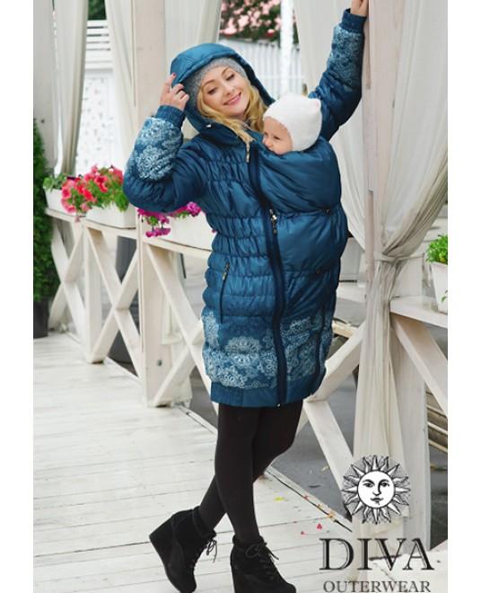 Зимняя слингокуртка 3 в 1 Diva Outerwear Azzurro