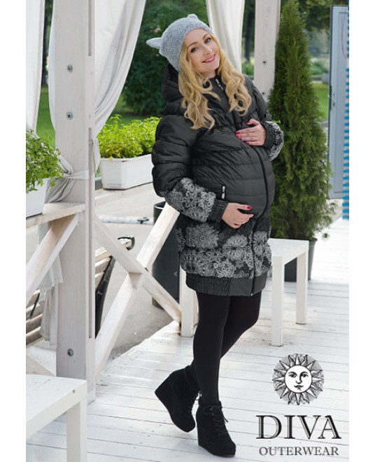 Зимняя слингокуртка 3 в 1 Diva Outerwear Nero