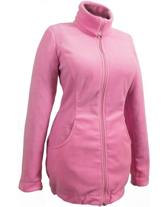 Слингокуртка и куртка для беременных флисовая «Мама Плюс» - розовая