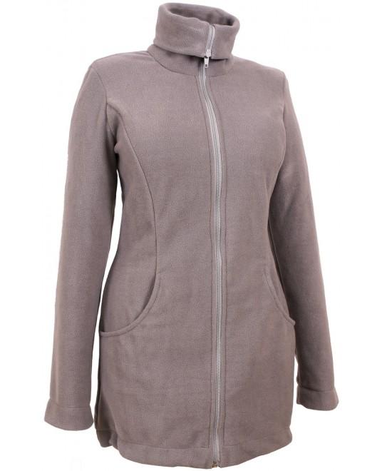 Слингокуртка и куртка для беременных флисовая «Мама Плюс» - серая