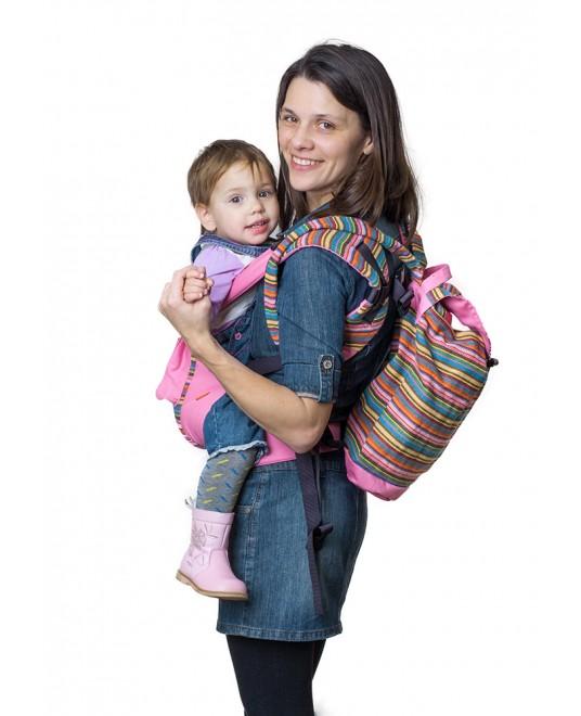 Сумка-рюкзак для мамы «Уичоли» розовый