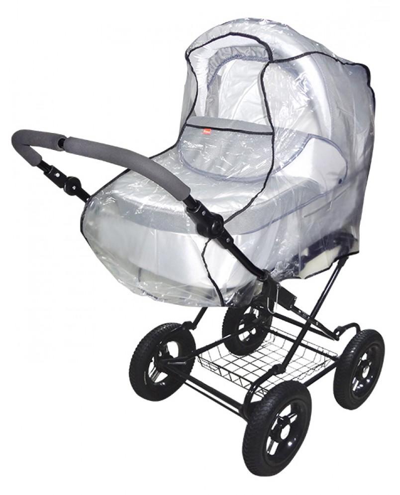 Дождевик для коляски-люльки и коляски-трансформера из полиэтилена