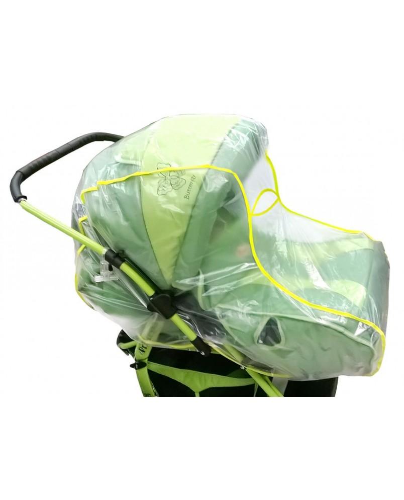 Дождевик для коляски-люльки и коляски-трансформер из ПВХ-пленки