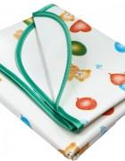 Клеенка подкладная детская с ПВХ покрытием с окантовкой с резинками-держателями, с рисунком
